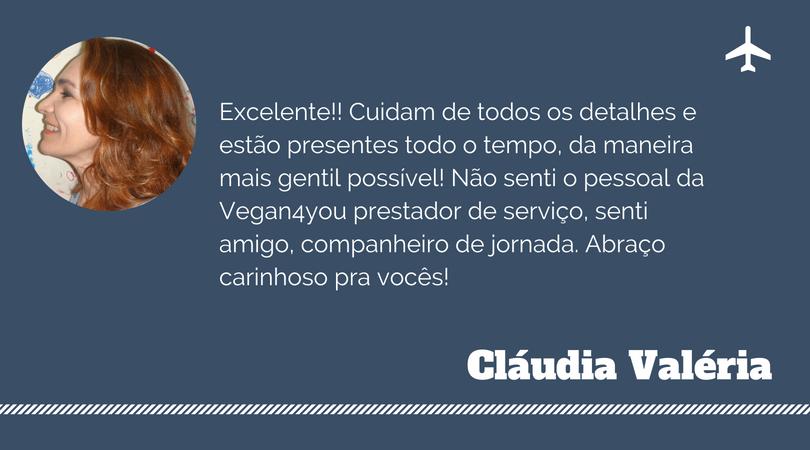 Depoimento de Cláudia Valéria