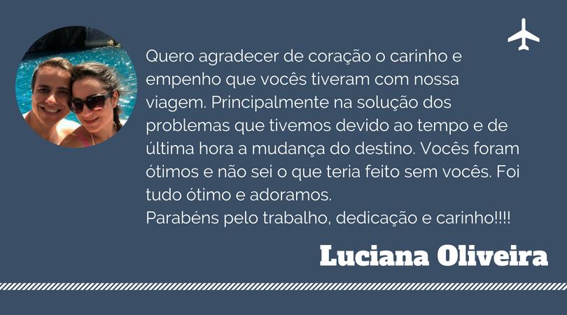 Depoimento de Luciana Oliveira